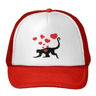Munkey in Love design Trucker Hat