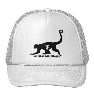Munkey with Longboarder Tatttoo design on hats