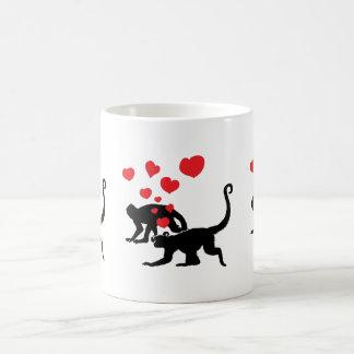 Munkeys in Love Classic White Coffee Mug