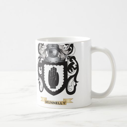 Munnelly Coat of Arms (Family Crest) Classic White Coffee Mug