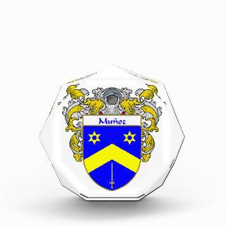 Munoz Coat of Arms Family Crest Acrylic Award