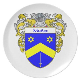 Munoz Coat of Arms/Family Crest Melamine Plate