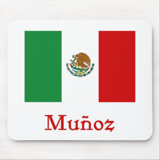 Munoz Mexican Flag Mouse Pad