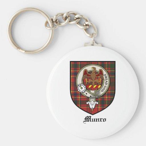 Munro Clan Crest Badge Tartan Basic Round Button Keychain