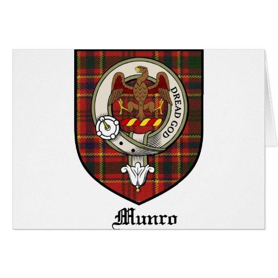 Munro Clan Crest Badge Tartan Card