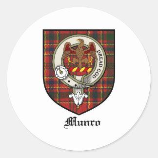 Munro Clan Crest Badge Tartan Classic Round Sticker