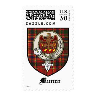 Munro Clan Crest Badge Tartan Postage