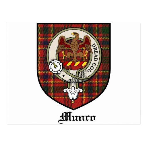 Munro Clan Crest Badge Tartan Postcards