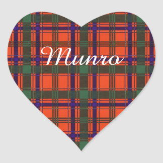 Munro clan Plaid Scottish tartan Heart Sticker