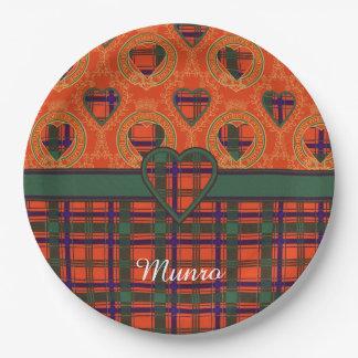 Munro clan Plaid Scottish tartan Paper Plate