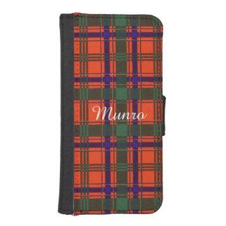 Munro clan Plaid Scottish tartan Phone Wallet Case