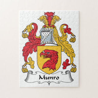 Munro Family Crest Jigsaw Puzzle