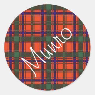 Munro Scottish clan tartan Classic Round Sticker