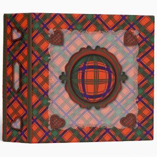 Munro Scottish clan tartan - Plaid 3 Ring Binder