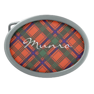 Munro Scottish clan tartan - Plaid Belt Buckle