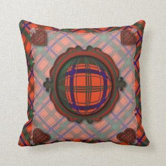 Munro Scottish clan tartan - Plaid Throw Pillow