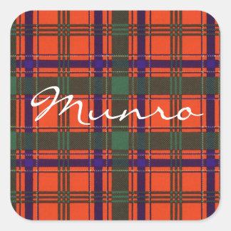Munro Scottish clan tartan Square Sticker