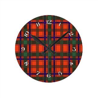 Munro Scottish Tartan Round Clock