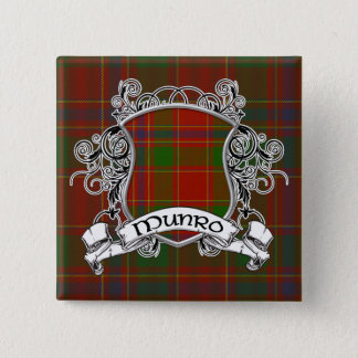 Munro Tartan Shield Pinback Button