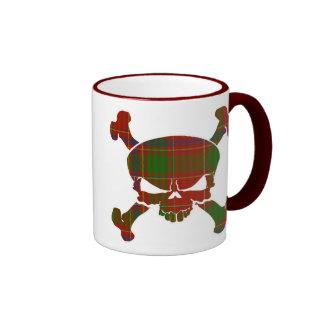 Munro Tartan Skull No Banner Ringer Mug