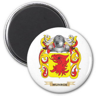 Munroe Coat of Arms (Family Crest) 2 Inch Round Magnet