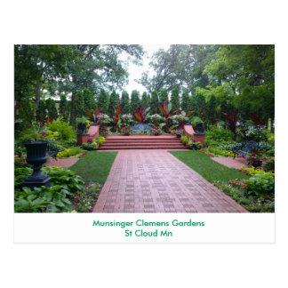 Munsinger Clemens Gardens Postcard