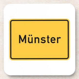 Munster, Germany Road Sign Coaster
