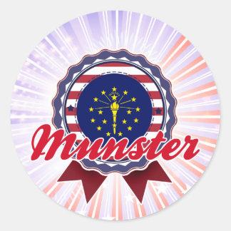 Munster, IN Round Sticker