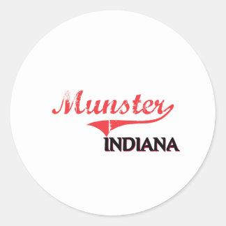 Munster Indiana City Classic Round Sticker
