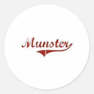 Munster Indiana Classic Design Round Sticker