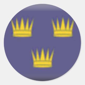 Munster (Ireland) Flag Round Stickers