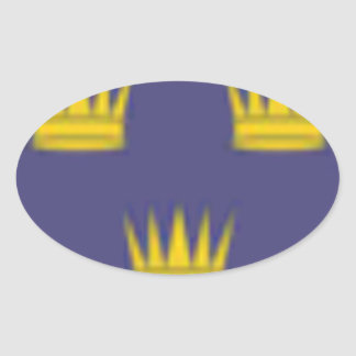 Munster (Ireland) Flag Oval Stickers