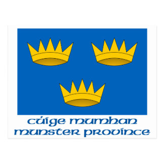 Munster Province Flag with Name Postcard