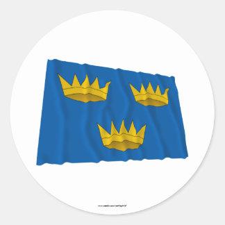 Munster Province Waving Flag Round Sticker