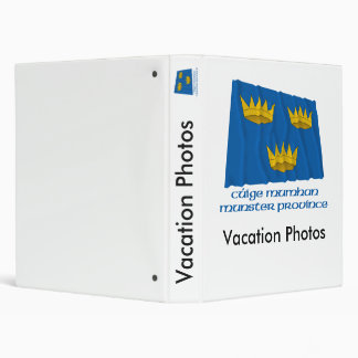 Munster Province Waving Flag with Name 3 Ring Binder