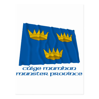 Munster Province Waving Flag with Name Postcard
