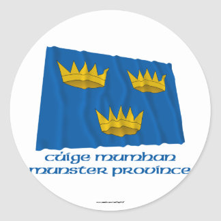 Munster Province Waving Flag with Name Sticker