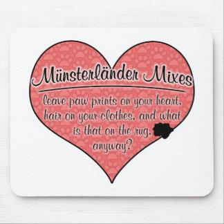 Münsterländer Mixes Paw Prints Dog Humor Mouse Pad
