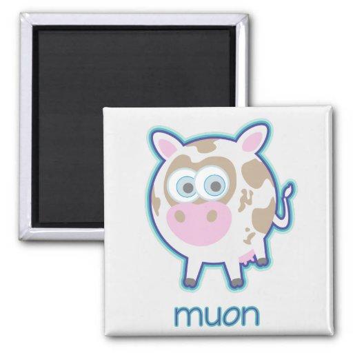 Muon Particle Cow 2 Inch Square Magnet