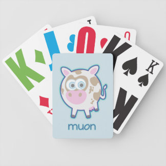 Muon Particle Cow Bicycle Playing Cards