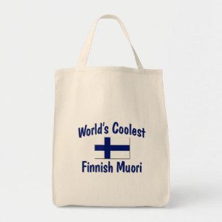 Muori finlandés más fresco del mundo bolsa lienzo