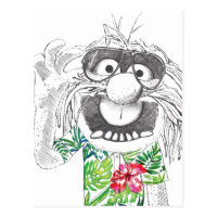 Muppets | Animal In A Hawaiian Shirt Postcard