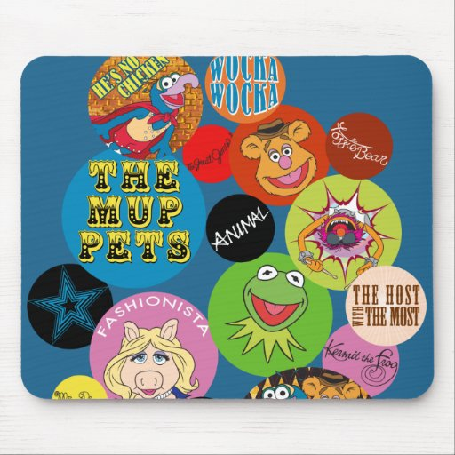 Muppets Circle Graphic Mouse Pad