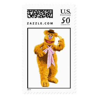 Muppets Fozzie Bear standing holding banana Disney Postage