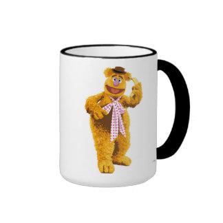 Muppets Fozzie Bear standing holding banana Disney Ringer Mug