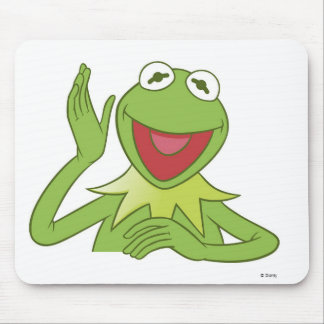 Muppets Kermit Disney sonriente que agita Alfombrillas De Raton