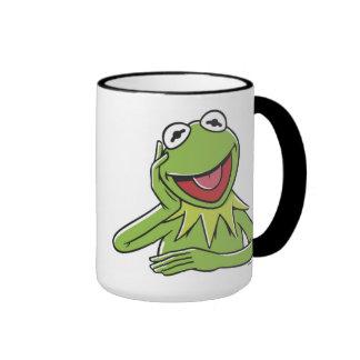 Muppets Kermit Disney sonriente Taza De Dos Colores