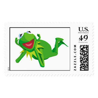 Muppets Kermit Lying Disney Stamp