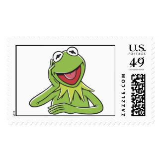 Muppets Kermit Smiling Disney Stamp