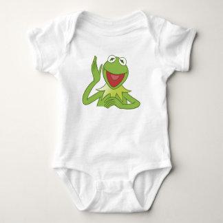 Muppets Kermit waving smiling Disney Baby Bodysuit